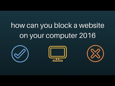 how can you block a website on your computer | how to block a website in host file