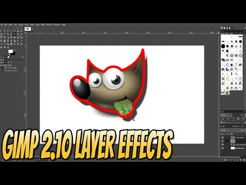 How To Add New Layer Effects To GIMP 2.10 Beginners Guide Part 3   Getting Started With GIMP 2.10