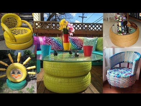 DIY Recycles old tyres with new look and make your house beautiful with no extra budget, Ideas 2017