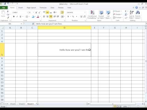 Microsoft Excel 4 - Cell formatting