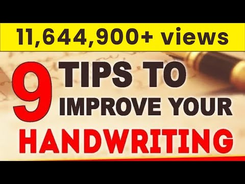 How To Improve Handwriting |  9 Important Tips  | LetsTute