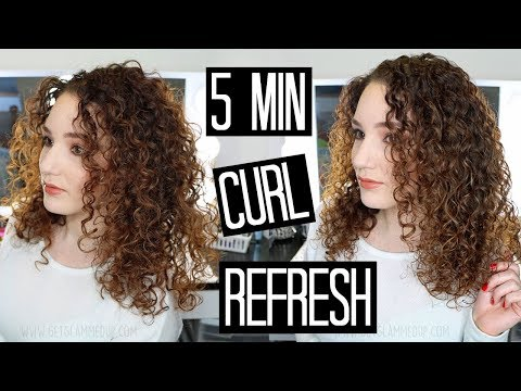How to Refresh Curls in 5 Minutes - Next-Day Hair Routine