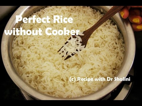 Perfect Rice Recipe | without cooker | Plain Boiled Rice | rice recipe