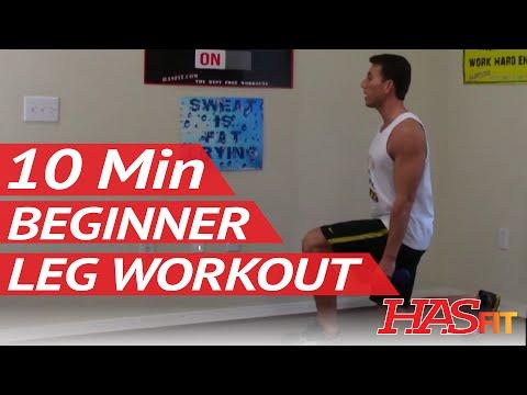 10 Min Beginner Leg Workout for Women & Men at Home - Easy Leg Workouts & Easy Exercises