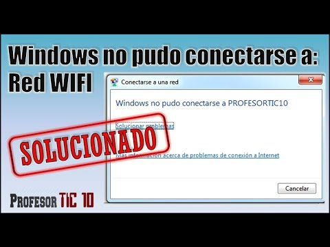 Error Windows no pudo conectarse a red wifi| Windows could not connect to