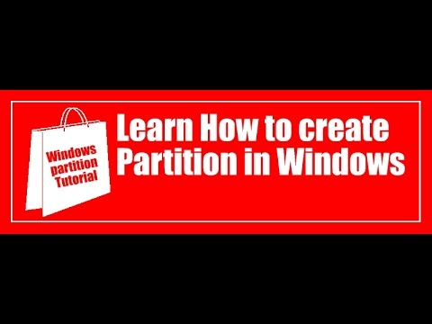 create and delete  partition in windows using command promt