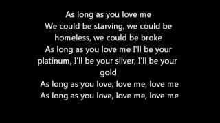 As Long As You Love Me - Justin Bieber ft. Big Sean - Official Lyrics