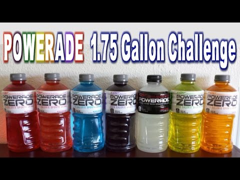 Powerade 1.75 Gallon of Rainbows Challenge *No Calories* | FreakEating vs the World 97