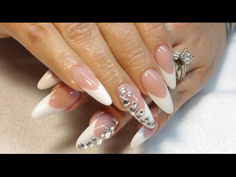 How To Pink & White Almond Shape Nails\\MelodySusie 36 Watt UV Lamp Review