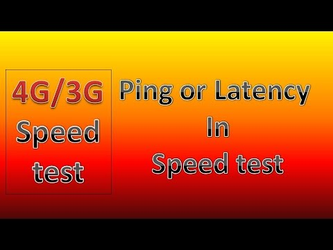What is the Ping or Latency || speed test ping or latency || Hindi
