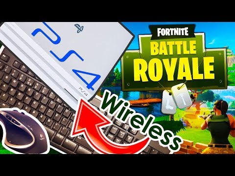 How to play Fortnite on PS4 with Keyboard & Mouse (WIRELESS!)