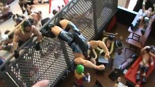 WWE action figure set up: Comedy edition