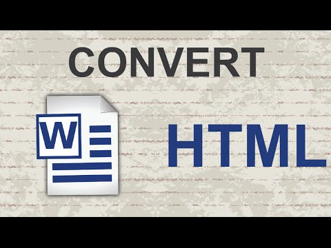 Convert Word to HTML 2015
