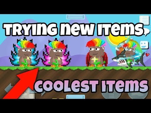 Trying Some New Items | Growtopia