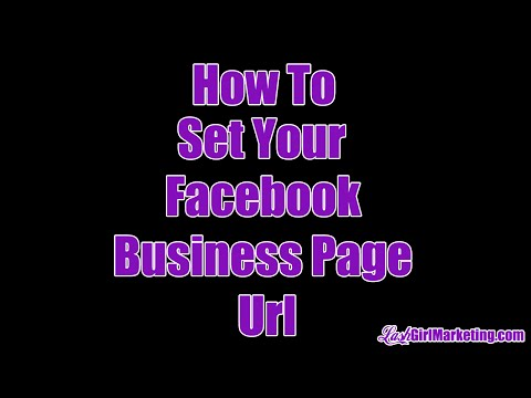 How To Set Your Custom Facebook Business Page Url
