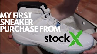 39140a11c My first sneaker Purchase From StockX! Jordan 11 Legend Blue Unboxing