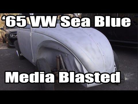Classic VW BuGs 1965 Sea Blue Beetle Media Blast Restoration Build Project