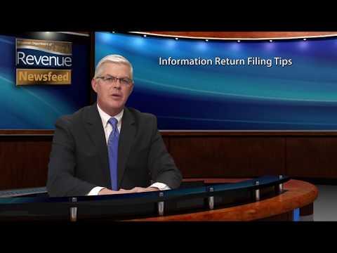 Revenue Newsfeed - Information Filing Return Tips