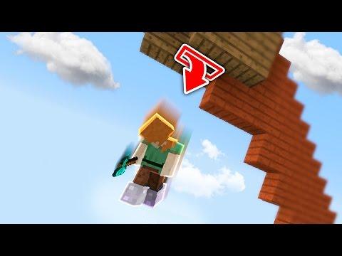 Fly Hacker Falls For Skybase Trap (Minecraft Skywars Trolling)