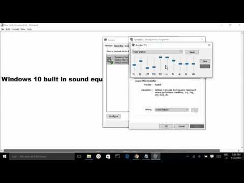 Windows 10 built in sound equalizer