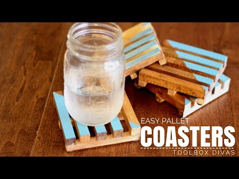 Easy DIY Pallet Style Drink Coasters
