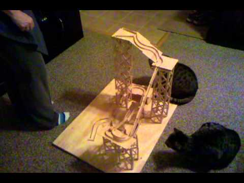 Popsicle stick rollercoaster