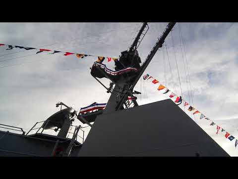 U.S. Navy   DDG-116   USS Thomas Hudner   Commisioning Tour   Boston   Guided Missile Destroyer