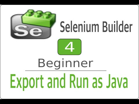 Selenium Builder 4 - How to Export as Java and run through Eclipse
