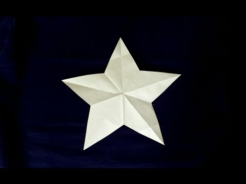 How to make a Perfect Star in One Snip!