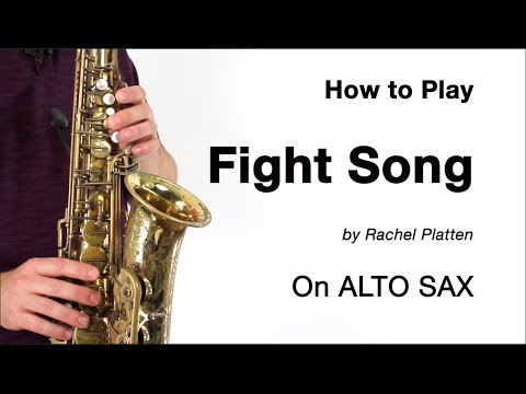 FIGHT SONG (Rachel Platten) for ALTO SAX