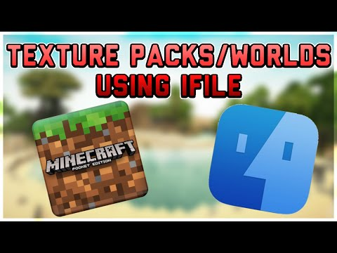 How To Add Texture Packs/Worlds to Minecraft PE Using iFile!