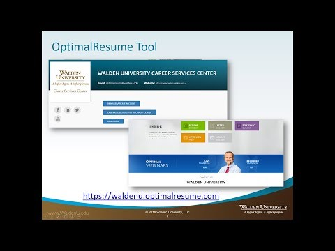 Building Your Prior Learning Portfolio with OptimalResume