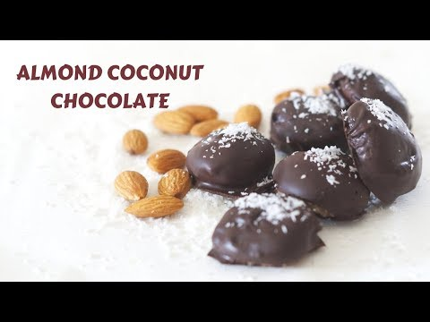 Almond Coconut Chocolate - How to make Chocolate - Quick and Easy Homemade Chocolate