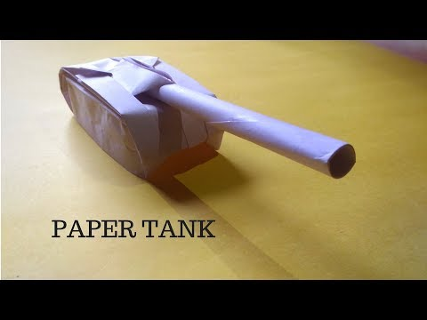 How To Make Tank With Paper | Origami Paper Tank | InnoVatioNizer
