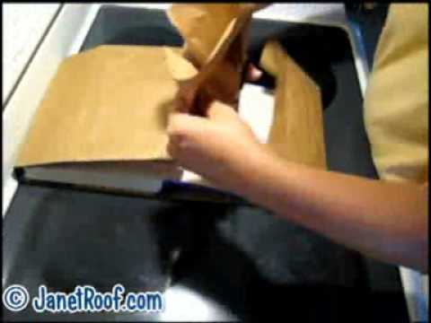 How to Make Book Covers Using Paper Grocery Bags and Wrapping Paper janetroof