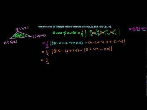 Finding Area of Triangle in Coordinate Plane By Crossing Method