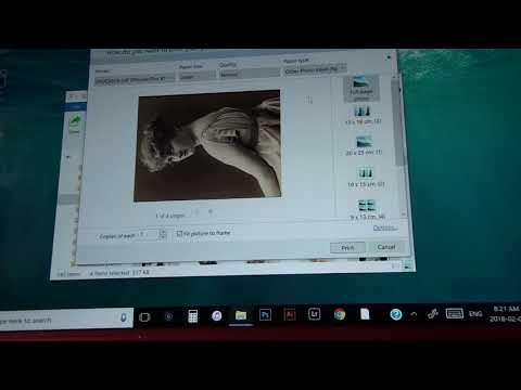 Revised: Printing multiple images on a single sheet Windows 10