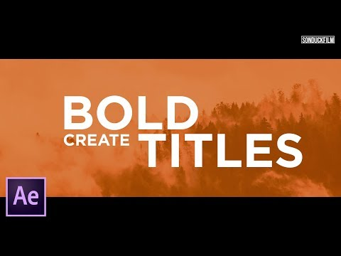 Make Your Titles Stand Out | After Effects Motion Graphics Tutorial