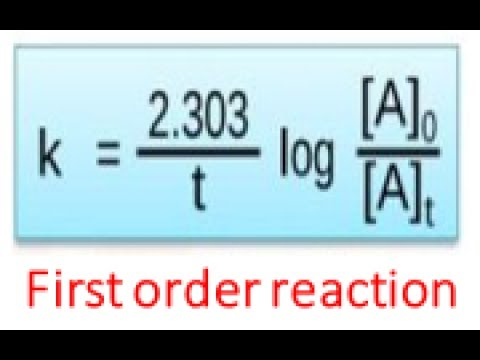 first order reaction derivation