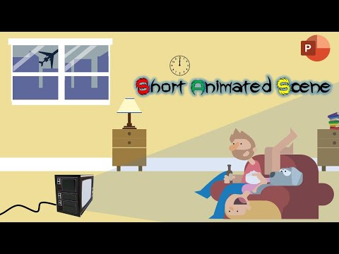 Animated Scene and Character Rigging | Motion Graphics in PowerPoint 2016 Tutorial | The Teacher