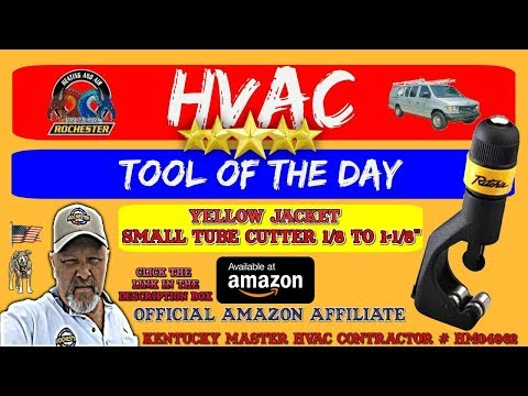 Yellow Jacket HVAC Premium Copper Tube Cutter with Reamer : HVAC Tool of the Day