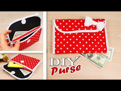 DIY PURSE BAG TUTORIAL Multi Pockets Purse Clutch Idea