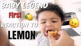 BABY LEGEND REACTS TO HIS 1ST LEMON!   WE PUT HIM IN BABY SCHOOL