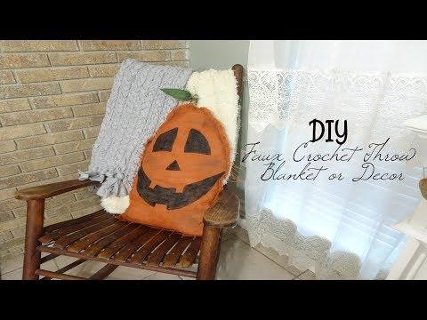 DIY Faux Crochet Throw Blanket or Decor (Kind of a FAIL)