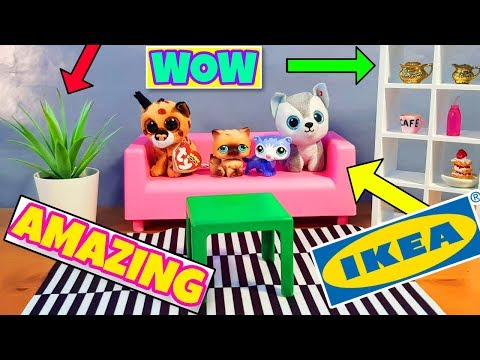 Transform your beanie boo and LPS set AMAZING mini furniture sets from IKEA