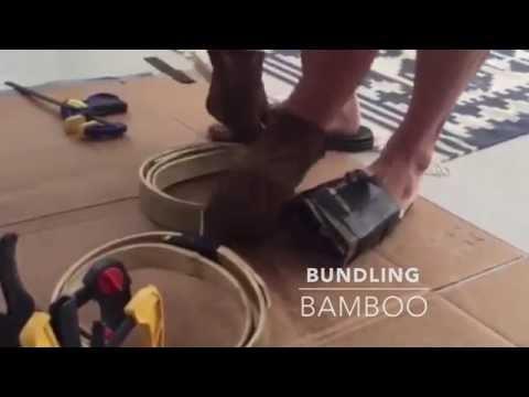 Flattening Bamboo for a Korean Horn Bow