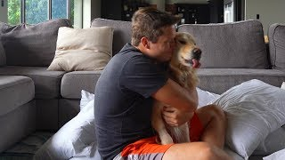 Hugging My Dog for Too Long (FUNNY REACTION 😂)