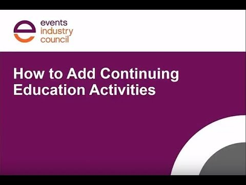 How to Add Continuing Education Credits