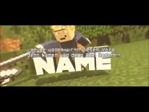 Minecraft Intro Template bearbeiten (Skin+Name) Blender   IBot