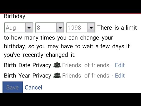How To Change Birthdate on Facebook Without waiting 60 Days Step By Step Method